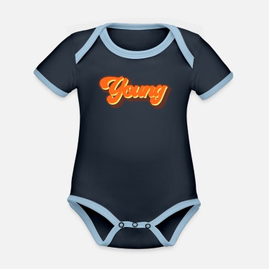 Young Young - Organic Contrast Baby Bodysuit