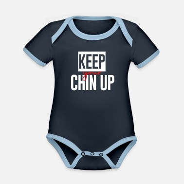 Chin Up Chin up - Organic Contrast Baby Bodysuit