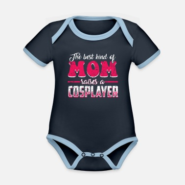 Far East Cosplay japan anime manga mother's day mother - Organic Contrast Baby Bodysuit