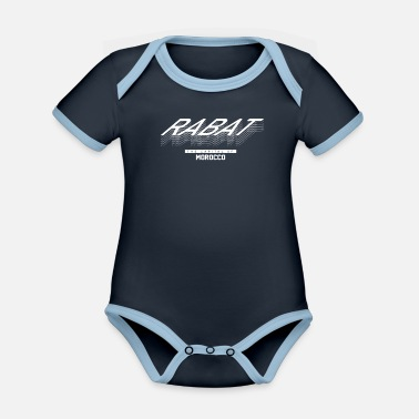 Dialect Rabat Tourist Holiday - Organic Contrast Baby Bodysuit