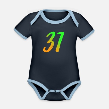 Number trente et un thirty one - Organic Contrast Baby Bodysuit