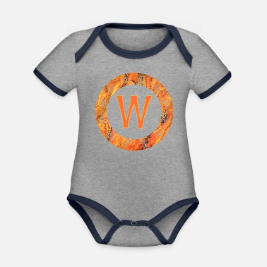 Magic star sign e 109 w - Organic Contrast Baby Bodysuit