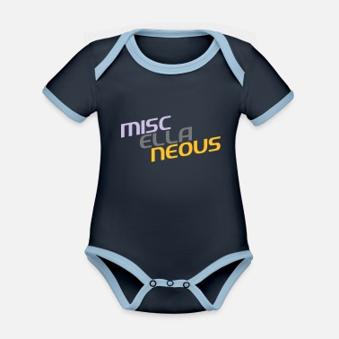Miscellaneous miscellaneous english gift slogan colored motive - Organic Contrast Baby Bodysuit