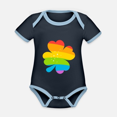 Lucky Charm LUCKY CHARMS - Organic Contrast Baby Bodysuit