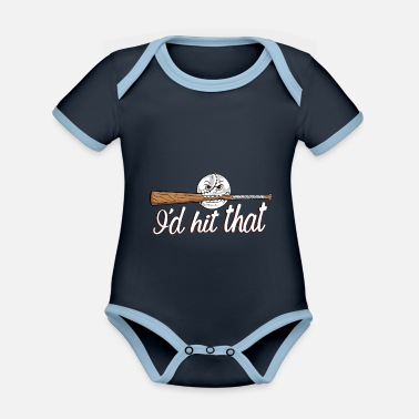 Hits I'd hit that - Organic Contrast Baby Bodysuit