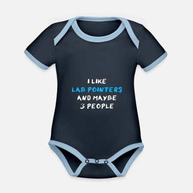 Humour Lab pointer - Organic Contrast Baby Bodysuit