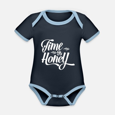 Moni Time is Hony Alternative way of life to consumption - Organic Contrast Baby Bodysuit