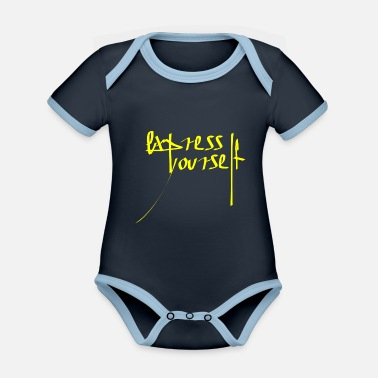 Expression Expression - Organic Contrast Baby Bodysuit