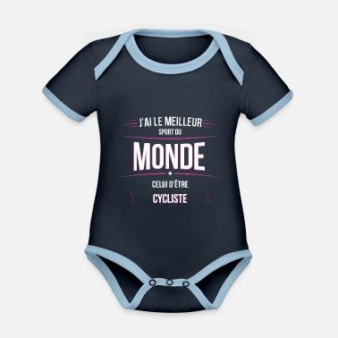 6df0350bd5e88 Sport Cycliste Cycliste meilleur sport du monde - Body bébé bio contrasté