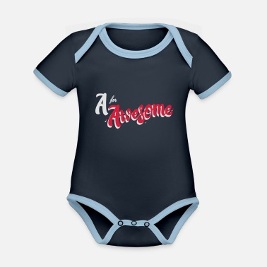 Awesome A for Awesome - Organic Contrast Baby Bodysuit