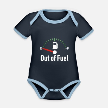 Fuel Out of Fuel - Organic Contrast Baby Bodysuit