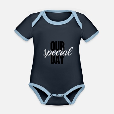 Wedding Day Wedding / Marriage: Our special day - Organic Contrast Baby Bodysuit