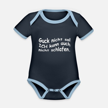 Sleepless Sleepless - Organic Contrast Baby Bodysuit