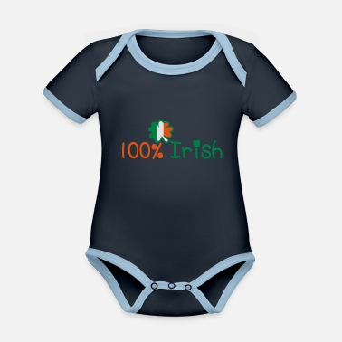 I Want To Marry Irish I Want To Have A Irish Girlfriend Irish Boyfriend Irish Husband Irish Wife Iri ♥ټ☘Kiss Me I'm 100% Irish-Irish Rule☘ټ♥ - Organic Contrast Baby Bodysuit