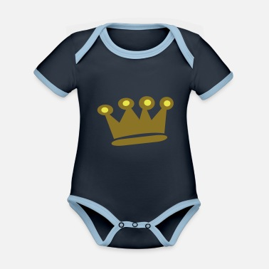Crown Gold Crown - Organic Contrast Baby Bodysuit