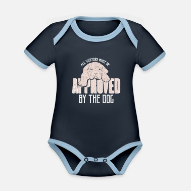 Dog Dog saying - Organic Contrast Baby Bodysuit