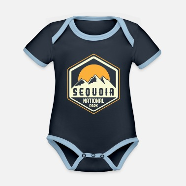 Nevada Usa Sequoia National Park Sierra Nevada USA - Organic Contrast Baby Bodysuit