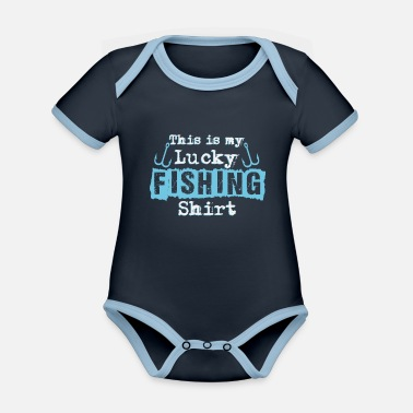 Fischer Hook Fischer saying | Angler fishing fishing fish hook - Organic Contrast Baby Bodysuit