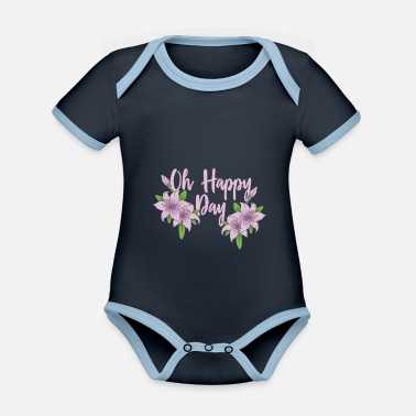 2019 06 1108 oh happy day flowers flowers hoodie 1 - Organic Contrast Baby Bodysuit