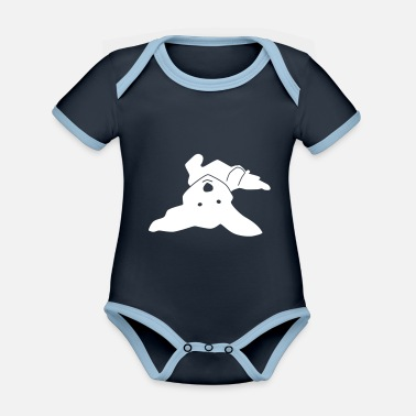 Havanese on his back - Organic Contrast Baby Bodysuit