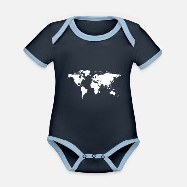 Geografie The World - Baby Bio Kurzarmbody zweifarbig