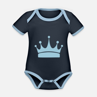 Crown for winners, print and design a T-shirt - Organic Contrast Baby Bodysuit