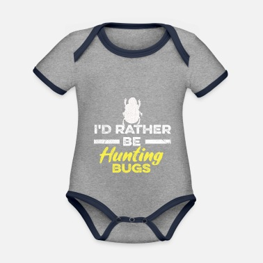 Insect Insects saying for an insect researcher - Organic Contrast Baby Bodysuit