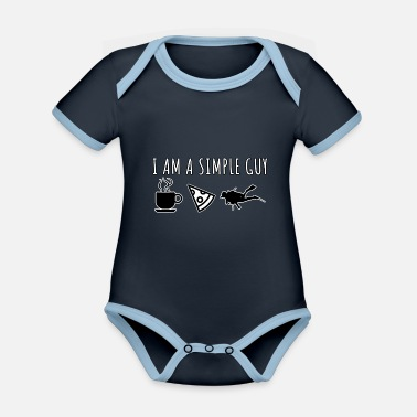 Simple Guy Diver Diving Scuba - Ekologisk kontrastfärgad babybody