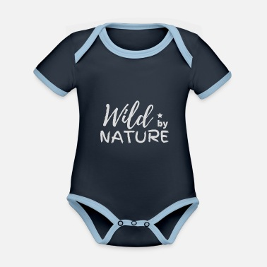 Trekking Clothing WILD BY NATURE - Organic Contrast Baby Bodysuit
