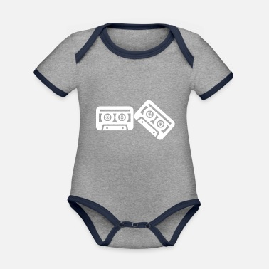 Hip Rock and Roll Rock Music - Organic Contrast Baby Bodysuit