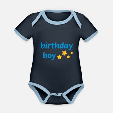 Birthday Boy Birthday Boy - Organic Contrast Baby Bodysuit