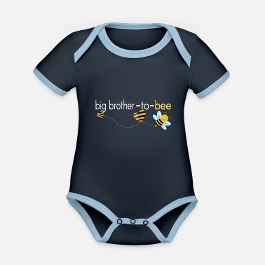 Brother Big Brother To Bee.. - Organic Contrast Baby Bodysuit