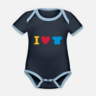 Fashion Underwear ★ Design colors changeable ★ I love t-shirts - Organic Contrast Baby Bodysuit