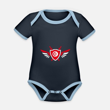 Djerba Tunisia wings / gift Djerba coat of arms - Organic Contrast Baby Bodysuit