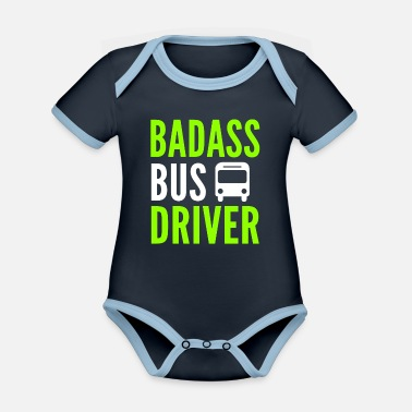 School Bus Driver Bus Driver School Bus Bus School Bus Driver Gift - Organic Contrast Baby Bodysuit