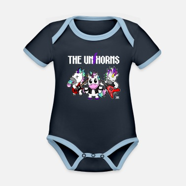 Heavy Unicorn gift for women, men and kids - Organic Contrast Baby Bodysuit