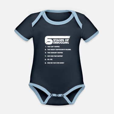 Coder Programmer programming troubleshooting coder - Organic Contrast Baby Bodysuit