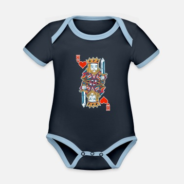 Chipleader Casino Poker Gambling Chipleader King Gift - Body Bébé bio contrasté