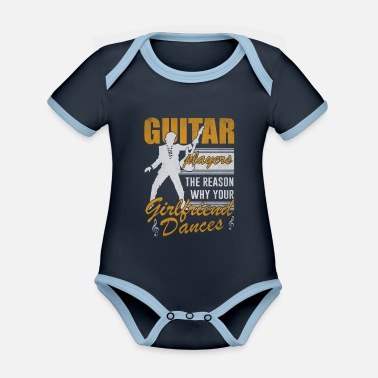 Guitar Player Guitar music bassist gift - Organic Contrast Baby Bodysuit