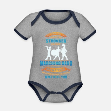 Orchestra Fanfare Band - Mop Orchestra - Orchestra - Organic Contrast Baby Bodysuit