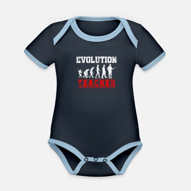 Private Tutoring Teacher Evolution - Organic Contrast Baby Bodysuit