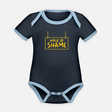 Halloween Sexy Walk Of Shame Party Joke Gifts - Organic Contrast Baby Bodysuit