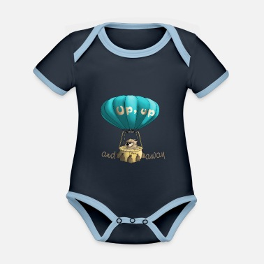 Away Up and away - up and away - Organic Contrast Baby Bodysuit