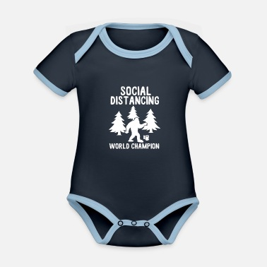 Toilet Social Distancing World Champion - Økologisk kontrast babybody