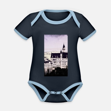 Close Up Neuschwanstein Castle close-up - Organic Contrast Baby Bodysuit