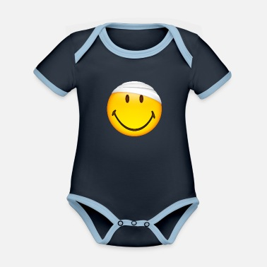 Injured Smiley Injured - Organic Contrast Baby Bodysuit