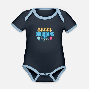 Childrens Day CHILDREN'S DAY - Organic Contrast Baby Bodysuit
