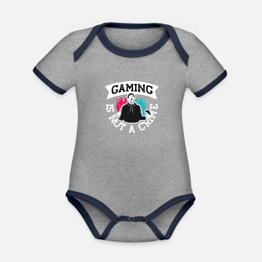 Gaming is not a Crime - Organic Contrast Baby Bodysuit