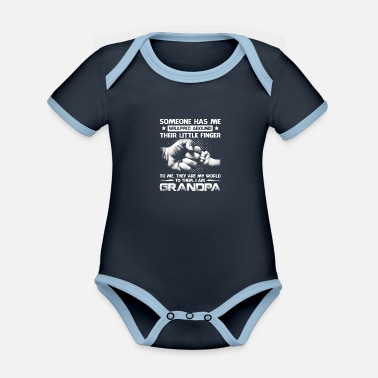 Someone Has Me Wrapped Around Their Little Finger - Organic Contrast Baby Bodysuit