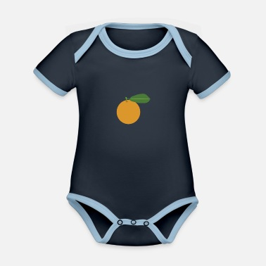 Fruit Orange fruit fruit - Organic Contrast Baby Bodysuit